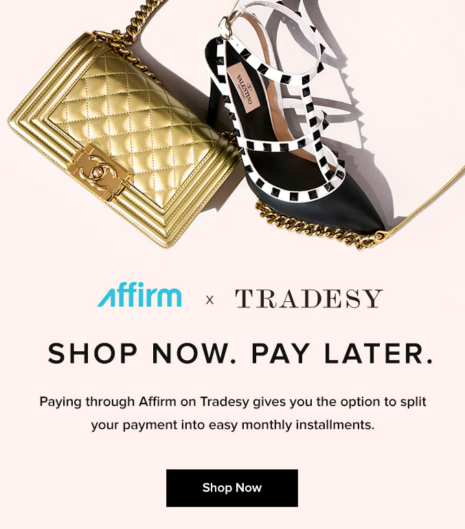 Tradesy X Affirm Now Pay Later